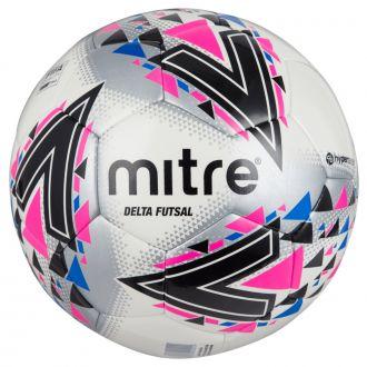 Mitre Delta Futsal Football - White/Pink