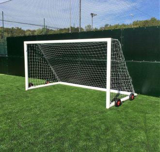 MH Wheeled Aluminium Football Goals 12 x 6