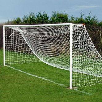 JUNIOR SIZED FOOTBALL GOAL NETS 21 X 7FT - CONTINENTAL FIT