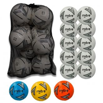 Pack 10 Mitre Impel Training Footballs With Bag
