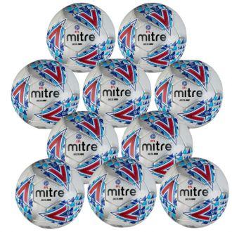 Mitre Delta EFL Mini Training Ball - 10 pack - White