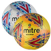 Mitre Delta EFL Replica Training Ball - White and Yellow