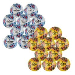 Mitre Delta EFL Replica Pack of 10 - White and Yellow