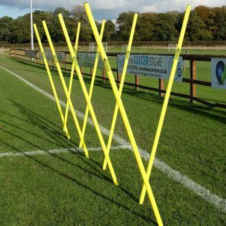 Diamond Boundary Slalom Poles Yellow