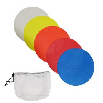 Flat Football Markers - Multi-Coloured